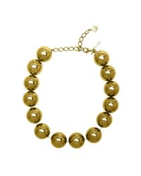 Oscar de la Renta | Metallic Gunmetal Beaded Necklace | Lyst