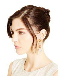 Oscar de la Renta - Pink Multi Crystal Drop Earrings - Lyst