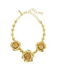 Oscar de la Renta - Metallic Gardenia Necklace - Lyst