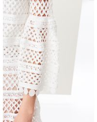 Oscar de la Renta - White Birdsnest Knit Jacket - Lyst