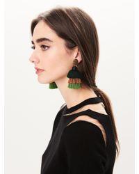 Oscar de la Renta - Multicolor Long Silk Tiered Tassel Earrings - Lyst