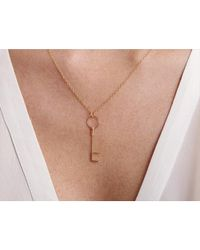 By Philippe | Metallic Gold Key Necklace | Lyst