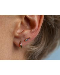 Otiumberg   Metallic Rainbow Huggie Hoops   Lyst