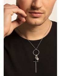 Thomas Sabo Charm-Einhänger »SCHWARZES KREUZ, Y0018-643-11« mit Zirkonia in Black für Herren