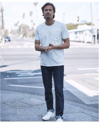 Outerknown White Sojourn Pocket Tee for men