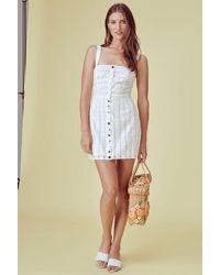 For Love & Lemons - Hermosa Eyelet Snap Dress White - Lyst