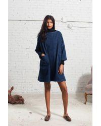 Sea - Blue Oversized Denim Dress - Lyst