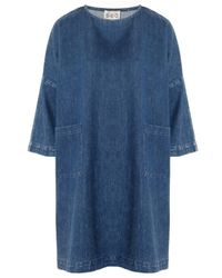 Sea - Blue Oversized Denim Dress - Lyst