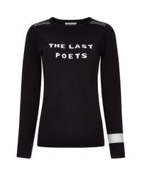 Bella Freud The Last Poets Jumper Black for men