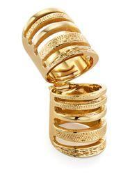 Pamela Love | Metallic Double Cage Ring | Lyst
