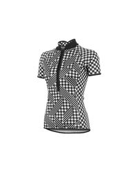 Shebeest - Black Bellissima Avant Gingham Short Sleeve Cycling Jersey - Lyst