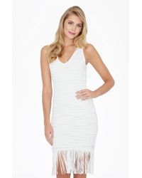 Parker   White Mae Knit Dress   Lyst