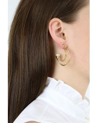 Chloé - Multicolor Darcey Pearl Hoop Earrings Gold - Lyst