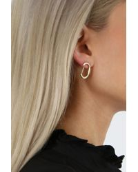 Jennifer Fisher Metallic Curved Smooth Earrings Yellow Gold