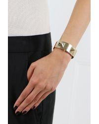 Valentino - Multicolor Rockstud Macro Leather Bracelet With Clasp Tan - Lyst