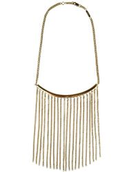 Chloé | Metallic Delfine Chain Necklace Gold | Lyst