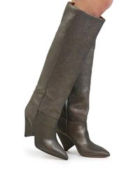 Isabel Marant - Metallic Lokyo Knee High Boots Silver - Lyst