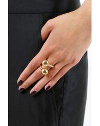 Jennifer Fisher - Metallic Large Double Ball Ring Yellow Gold - Lyst