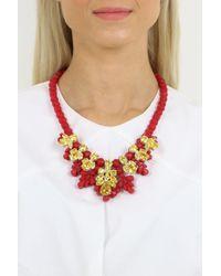 EK Thongprasert - Silicone Seven Jewel Neckpiece Red/citrine Crystals - Lyst