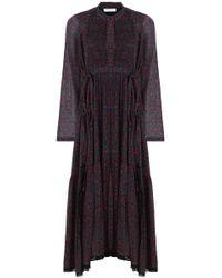 Chloé - Cherry Print Maxi Dress Crimson/black - Lyst