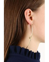 Jennifer Fisher - Black Pair Long Loop Earrings Yellow Gold - Lyst