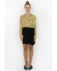 Isabel Marant - Mia Metallic Blooming Print Blouse Yellow - Lyst