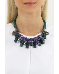 EK Thongprasert - Silicone Five Jewel & Metal Neckpiece Dark Green/amethyst Crystals - Lyst