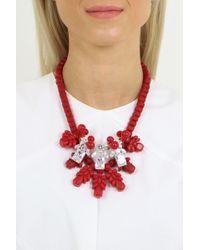 EK Thongprasert   Silicone Three Jewel Neckpiece Red/white Crystals   Lyst