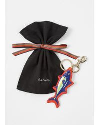 Paul Smith - Red Leather 'Tuna' Keyring for Men - Lyst