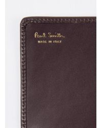 Paul Smith - Purple Women's Damson Leather Monogrammed Tri-fold Purse - Lyst