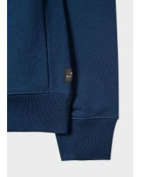 Paul Smith - Blue Men's Navy Cotton-blend Panelled Sweatpants for Men - Lyst