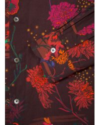 Paul Smith - Red Chemise Bordeaux 'Fantasy Floral' En Coton Coupe Slim for Men - Lyst