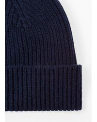 Paul Smith - Blue Men's Navy Cashmere-Blend Beanie Hat for Men - Lyst