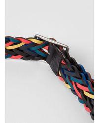 Paul Smith - Blue Men's Reversible Plaited Leather Belt for Men - Lyst