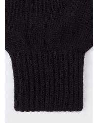 Paul Smith - Black Gants Homme Noirs En Cachemire Et Laine Mérinos for Men - Lyst