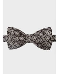 Paul Smith | Men's Black Paisley Silk Bow Tie for Men | Lyst