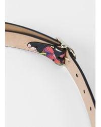 Paul Smith   Multicolor Women's 'wild Garden' Print Calf Leather Belt   Lyst