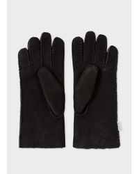 Paul Smith - Black Gants Noirs En Peau De Mouton for Men - Lyst