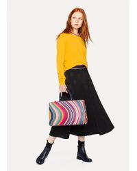 Paul Smith - Multicolor Women's 'swirl' Print Calf Leather Tote Bag - Lyst