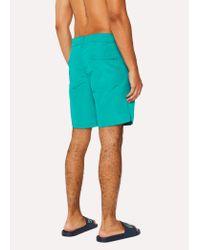 Paul Smith - Blue Short De Bain Homme Turquoise for Men - Lyst