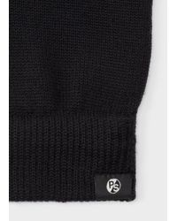 Paul Smith - Men's Black Merino Wool Gloves for Men - Lyst