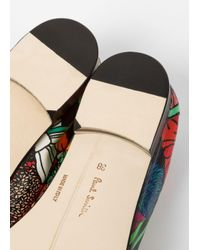 Paul Smith - Multicolor Women's Leather 'glynn' Penny Loafers With 'wild Garden' Print - Lyst