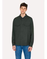 Paul Smith Dark Green Wool Shirt Jacket for men