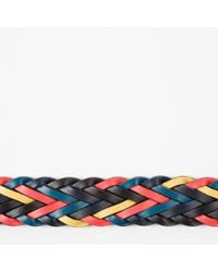Paul Smith | Blue Men's Reversible Plaited Leather Belt for Men | Lyst