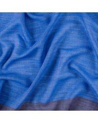 Paul Smith - Men's Sky Blue Herringbone Wool Scarf for Men - Lyst