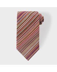 Paul Smith | Multicolor Men's Signature Stripe Silk Tie for Men | Lyst
