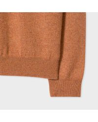 Paul Smith - Multicolor Women's Tan Marl Cashmere Sweater - Lyst