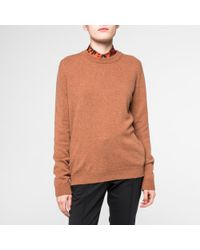 Paul Smith - Multicolor Women's Tan Marl Cashmere Sweater - Lyst
