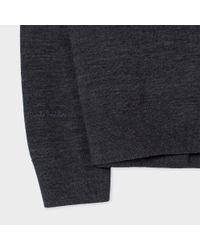 Paul Smith - Gray Men's Charcoal Grey Fine-gauge Merino-wool Cardigan for Men - Lyst