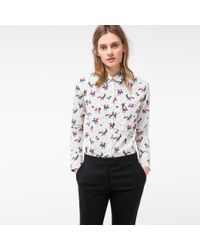 Paul Smith | Multicolor Women's Cream 'dancers' Print Cotton Shirt | Lyst